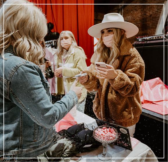 Women selling goods