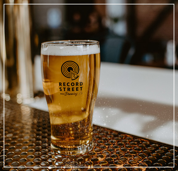 Record Street Beer Glass