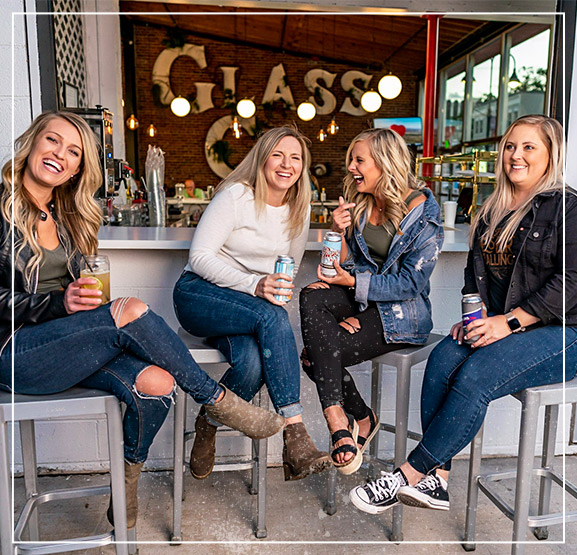 Group of women enjoying Record Street beer